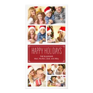 Tarjetas simples de la foto del día de fiesta del plantilla para tarjeta de foto