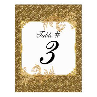 Tarjetas simples del número de la tabla del boda d tarjetas postales