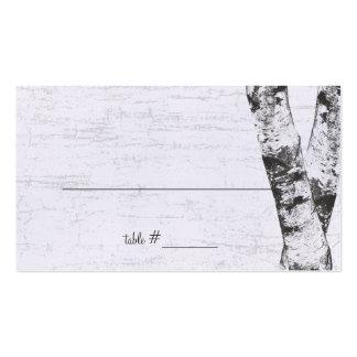 Tarjetas talladas del asiento del árbol de abedul  tarjetas personales
