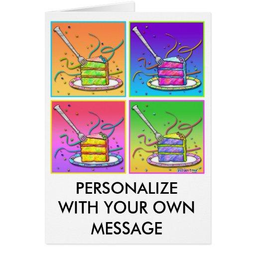 Tarjetas - torta del arte pop