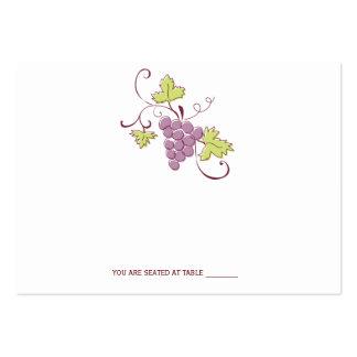 Tarjetas toscanas del lugar del boda del viñedo tarjetas de visita grandes