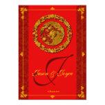 Tarjetas tradicionales de RSVP del dragón de la Invitación 12,7 X 17,8 Cm