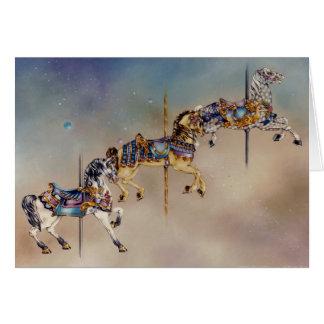 Tarjetas - tres caballos del carrusel