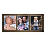 Tarjetas triples de la foto de la foto del navidad anuncios personalizados