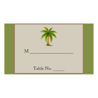 Tarjetas tropicales del lugar del boda de la tarjetas de visita