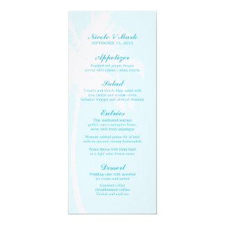 """Tarjetas tropicales del menú del boda de las invitación 4"""" x 9.25"""""""