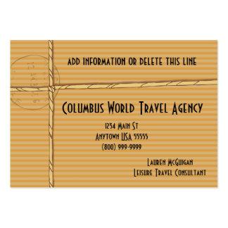 Tarjetas tropicales del negocio de representación  tarjeta de visita