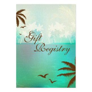 Tarjetas tropicales del registro de regalos de la tarjetas de visita grandes