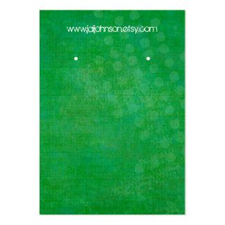 Tarjetas verdes claras del pendiente del fondo tarjetas de visita