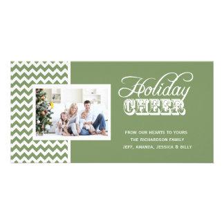 Tarjetas verdes de la foto de la alegría del día tarjetas fotográficas