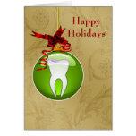 tarjetas verdes del día de fiesta del dentista del