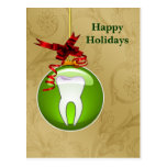 tarjetas verdes del día de fiesta del dentista del postales