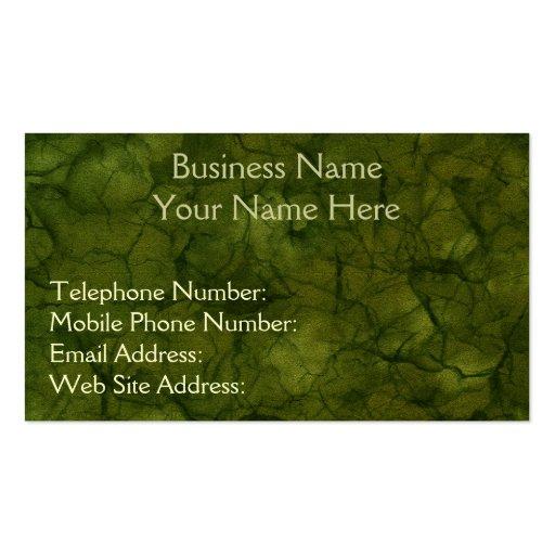 Tarjetas verdes del negocio y del perfil de las tarjetas de visita