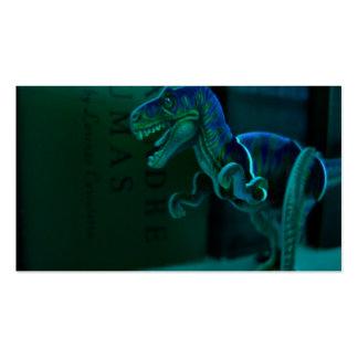 Tarjetas verdes del perfil de Dino Tarjetas De Visita