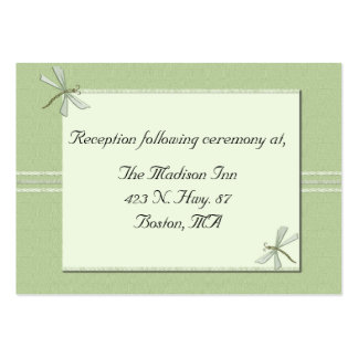 Tarjetas verdes del recinto del boda de la tarjetas de visita grandes