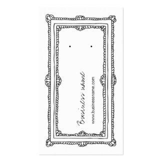 Tarjetas verticales blancas de la parte posterior tarjetas de visita