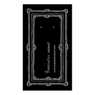 Tarjetas verticales de la parte posterior del pend tarjeta de visita