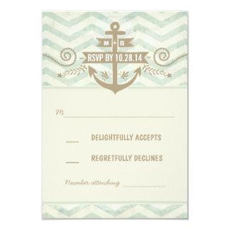 tarjetas viejas de RSVP del ancla del boda náutico Invitación 8,9 X 12,7 Cm