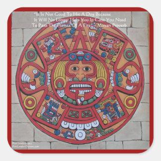 Tarjetas y camisetas de regalos mayas del pegatina cuadrada