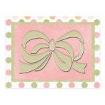 Tarjetas y franqueo rosados del lunar postales