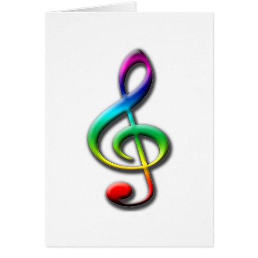 Tarjetas y pegatinas de la música