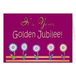 Tarjetas y regalos de oro del jubileo de las monja