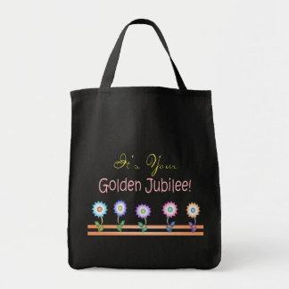 Tarjetas y regalos de oro del jubileo de las monja bolsas