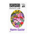 Tarjetas y regalos felices de pascua sello