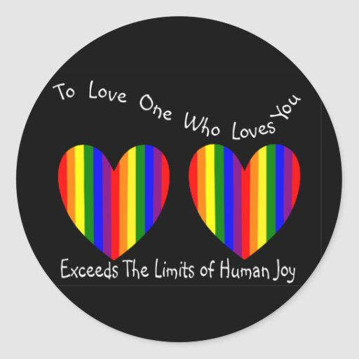 Tarjetas y regalos homosexuales/lesbianos de la pegatina redonda