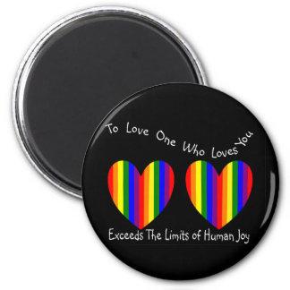 Tarjetas y regalos homosexuales/lesbianos de la ta imán redondo 5 cm