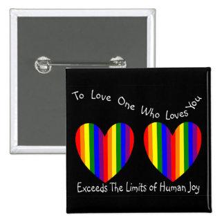 Tarjetas y regalos homosexuales lesbianos de la ta pins