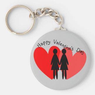Tarjetas y regalos lesbianos de la tarjeta del día llavero personalizado