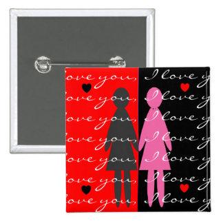 Tarjetas y regalos lesbianos de la tarjeta del día pins