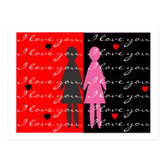 Tarjetas y regalos lesbianos de la tarjeta del día postal