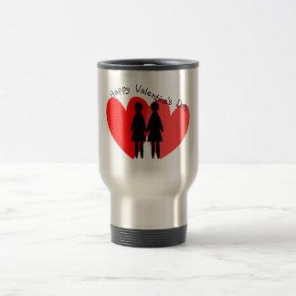 Tarjetas y regalos lesbianos de la tarjeta del día tazas