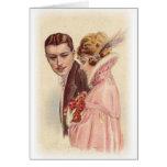 Tarjetas y regalos románticos antiguos de los pare
