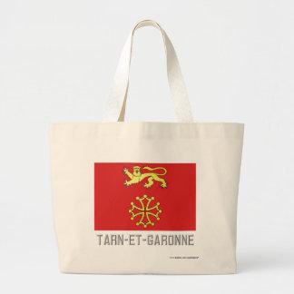 Tarn-et-Garonne flag with name Bags