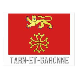 Tarn-et-Garonne flag with name Postcard