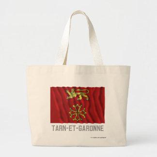 Tarn-et-Garonne waving flag with name Canvas Bag