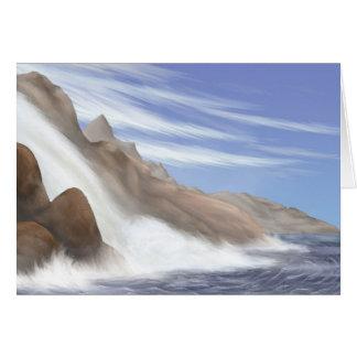 Tarnese Waterfall Greeting Card