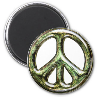 Tarnished Peace Sign Magnet