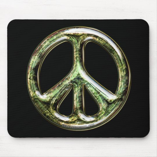 Tarnished Peace Sign Mouse Pad