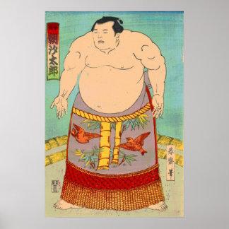 Taro de Asashio del luchador del sumo Póster