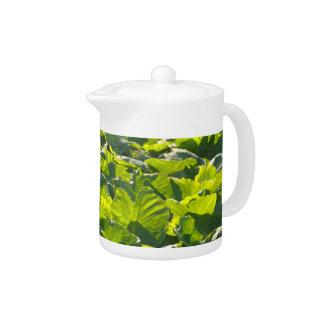 Taro plantation teapot