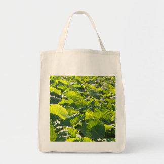 Taro plantation tote bag