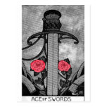 TAROT ACE OF SWORDS POST CARDS