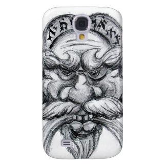 TAROT/ANTIQUE FANTASY GROTESQUE MASK Black White Galaxy S4 Cover