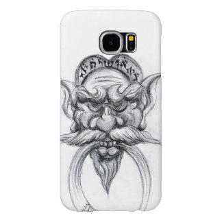 TAROT/ANTIQUE FANTASY GROTESQUE MASK Black White Samsung Galaxy S6 Case