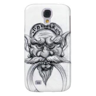 TAROT/ANTIQUE FANTASY GROTESQUE MASK Black White Samsung S4 Case