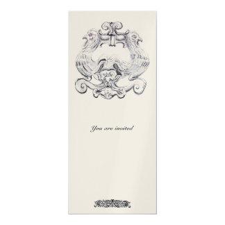TAROT/ ANTIQUE FLORENTINE GROTESQUE Black White Card